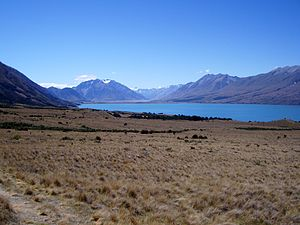 Ohau (skifield) - View of Lake Ohau