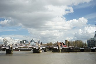 Lambeth Bridge - Lambeth Bridge, seen from Millbank, looking north and downstream