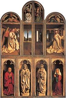 <i>Ghent Altarpiece</i> polyptych by Hubert van Eyck and Jan van Eyck