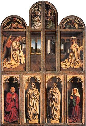 Ghent Altarpiece - Closed view, back panels