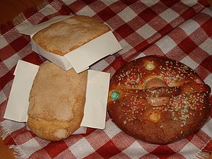 "Fat Thursday - ""Bizcochos"" and ""mona"" on Fat Thursday in Albacete, Spain"
