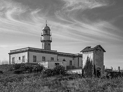 Punta Insua Lighthouse. Carnota, La Coruña, Galicia, Spain