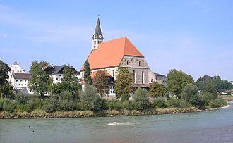Laufen, Germany - Parish church in Laufen