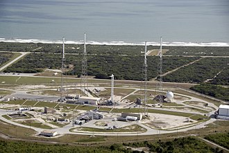 SpaceX launch facilities - The Falcon 9 launch complex at Cape Canaveral, Florida.