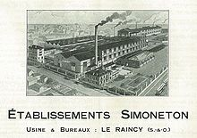 Ets Simoneton-Le Raincy