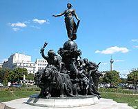 Le triomphe de la République, Place de la Nation Paris Aimé Jules Dalou.JPG