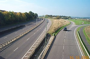 A41 road - The A41 north of Watford, to the east of Junction 19 of the M25