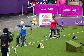 Lee Hwa-sook - Lee Hwa-sook and Magali Comte at the 2012 Summer Paralympics