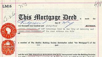 Stockholm Finance Ltd v Garden Holdings Inc - Old format of a Mortgage Deed