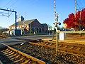 Level crossing at Mystic station, November 2013.jpg