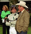 "Lexington Kentucky - Keeneland Jockey ""Eddie Martin Jr. - Strategizing"" (2145203310) (2).jpg"