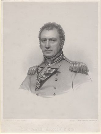 Battle of Fort Oswego (1814) - Lt Col James Malcolm led the British landing force that included Royal Marines, the Glengarry Light Infantry, and De Watteville's Regiment.