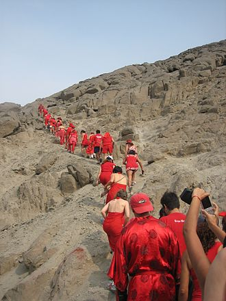 Hash House Harriers - The first Red Dress Run in South America, held in Chaclacayo, Perú.