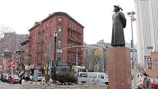 Chatham Square Square in Manhattan, New York