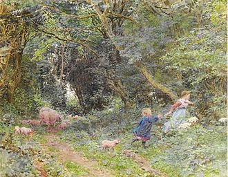 Lionel Percy Smythe - Under the Greenwood Tree (watercolour, 1902)