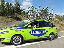 L'ammiraglia della Liquigas alla Vuelta a España 2008