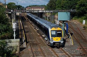 Lisburn railway station - A NIR Class 3000 'C3K' departs Lisburn