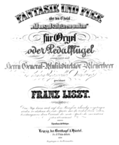 "Cover of the first edition of Liszt's Fantasy and Fugue on the chorale ""Ad nos, ad salutarem undam"" (Source: Wikimedia)"