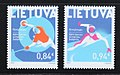 Lithuania 2018 Set of two MNH stamps XXIII Winter Olympic Games.jpg