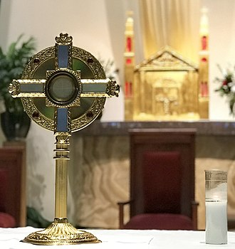 Eucharistic adoration - Eucharistic adoration in Saint Therese Little Flower Catholic Church in Reno, Nevada, USA