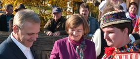 Liviu Dragnea Deputy Prime Minister of Romania - Aurelia Fedorca Mayor of Negreşti-Oaş - Noble Ionuţ Silaghi de Oaş