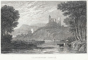 Llandovery - Llandovery Castle, Carmarthenshire by Gastineau, Henry G., 1830?