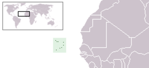 Geography of Cape Verde - The location of Cape Verde.