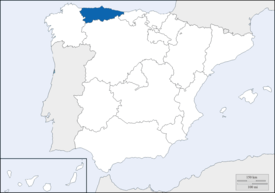 Location of Asturias