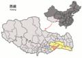 Location of Mainling within Xizang (China).png