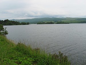 Loch Awe - Loch Awe showing some of the islands in the loch, including Innis Chonan