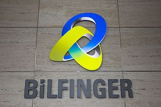 Bilfinger - Bilfinger Logo at the entrance of Head Office