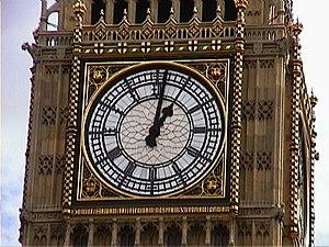 Big Ben in London.