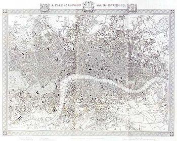 Map Of London 1600.History Of London Wikipedia
