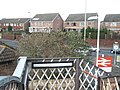 Looking over to the raised houses in Bedhampton Road from the footbridge at the railway station - geograph.org.uk - 1079915.jpg