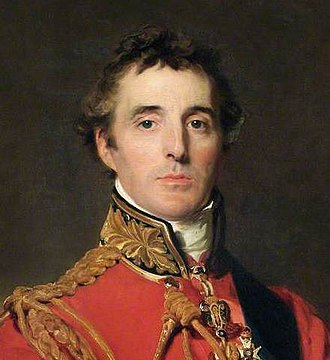 Battle of Waterloo - The 1st Duke of Wellington, commander of the Anglo-allied army