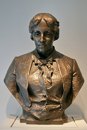 Flower Fables - Louisa May Alcott, 1967 cast after 1891 original, bronze cast after Frank Edwin Elwell, Foundry Roman Bronze Works, Inc.