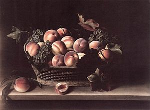 Basket with Peaches and Grapes, 1631