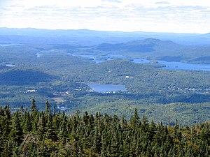 McKenzie Mountain - Image: Lower Saranac Lake from Mount Mc Kenzie