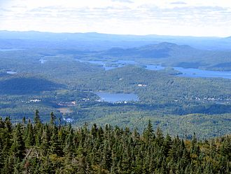McKenzie Mountain - Image: Lower Saranac Lake from Mount Mc Kenzie