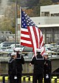 Lowering the National Ensign on USS Parche (SSN 683).jpg