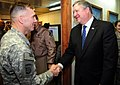 Lt. Gen. William B. Caldwell IV, commander NATO Training Mission - Afghanistan, greets the Honorable Michael Donley (4330616376).jpg