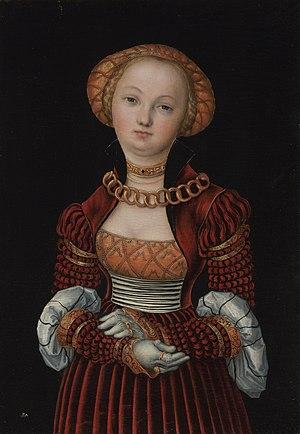 Joachim II Hector, Elector of Brandenburg - Image: Lucas Cranach d.Ä. Bildnis einer Frau (National Gallery London)
