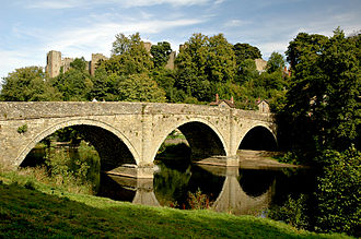 River Teme - The River Teme at Ludlow, Shropshire