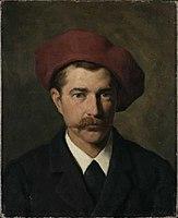 Ludwig von Zumbusch - Bildnis des Malers Josef Wopfner (1882).jpg