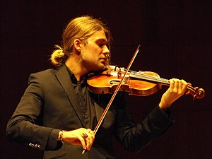 English: David Garrett performing Bruch Violin...