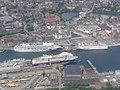 Luftaufnahme von Fähren im Kieler Hafen - panoramio.jpg