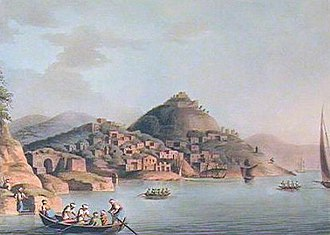 Gulf of Fethiye - Gulf of Thermessos, painting by Luigi Mayer.
