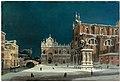 Luigi Querena - A noctural view of Campo dei Santi Giovanni e Paolo, Venice.jpg
