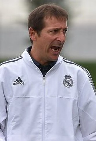 Luis Miguel Ramis - Ramis coaching Real Madrid youths in 2015