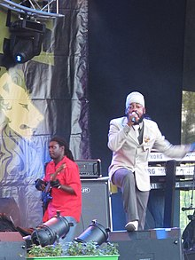 Lutan Fyah at the 2009 Uppsala Reggae Festival, Sweden